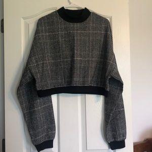 Zaful Cropped Bulky Plaid Sweater!!! SIZE M